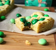 Renee's Kitchen Adventures: Mint M&M Sugar Cookie Bars.  Easy recipe to use your favorite M&M® flavors and colors in! mints, mint mm, cooki bar, food, mm sugar, easi sugar, sugar cookie bars, recip, dessert