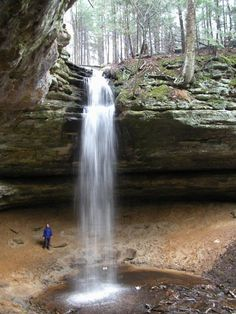 MNA Memorial Falls, U.P. Alger county, MI. 40-feet. dries up in summer, but when it rains or snow melts there are two waterfalls.