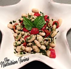 White Bean Pesto Salad | SCRUMPTIOUS, Super Easy & PROTEIN & FIBER-Packed (10 grams EACH per serving) | Comfort food done light | Enjoy! :) For MORE RECIPES please SIGN UP for our FREE NEWSLETTER www.NutritionTwins.com