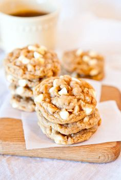 Peanut butter oatmeal white chocolate cookies - too much? Only one way to find out!