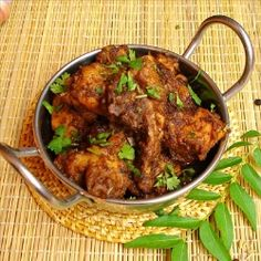 Dry Chicken Curry - Spicy hot and flavorful chicken dry curry from the best known Chettinad cuisine of South India.