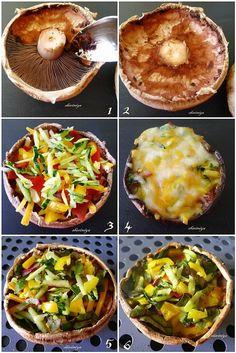 Portobello Pizza Mosaic