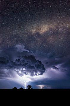 Milky Way over Storms