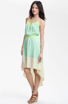 Willow & Clay Colorblock Asymmetrical Hem Dress available at Nordstrom