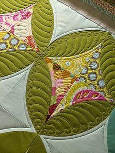 Quilting ~ New Pattern ~ Modern Feathers - Bloglovin