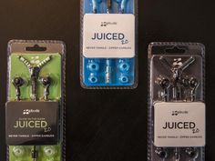 Zipbuds Juiced 2.0: The Tangle-Free Earbuds offers four colors, including glow-in-the-dark!