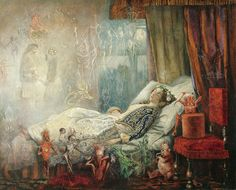 """""""The stuff that dreams are made of"""" by John Anster Fitzgerald (1819-1906)"""