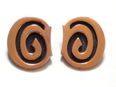 Rare Bold Vintage RENOIR Copper Modernist Swirled by TheCopperCat, $29.00