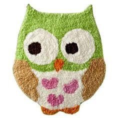 Cute Green Owl Rug