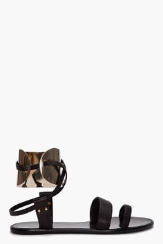 LANVIN // METAL CUFF SANDALS