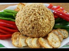 Festive Cheese Ball - perfect for tailgating!