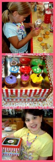 cupcakes, birthdays, girls birthday parties, girlfriends, birthdayt parti, ashlynn birthday, ag parti, american girl birthday, american girls