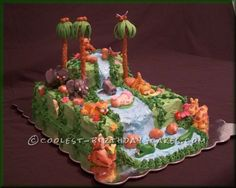Coolest Rain Forest Baby Shower Cake ...This website is the Pinterest of birthday cakes