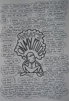 What's On My Mind journal page - take a load off....write it down. [Honestly, it really works to jot down your feelings. It helps to get your thoughts in order - to clear the way so you can move forward.- and to prioritise what's important and for you to cast aside/let go of,  troubling things of the past which are stifling your life. ;) Mo]