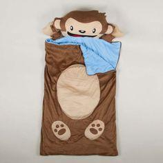 Monkey Sleeping Bag gift blanket, monkeys, sons, sleep bag, sleeping bags, gifts, fun, blankets, monkey sleep
