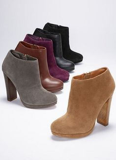 Fall booties. i'll take a pair in each color, please!