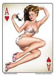 Poker Pin-up #Retro #Art #Vintage #Sexy #Cards #Poker #Pin-up