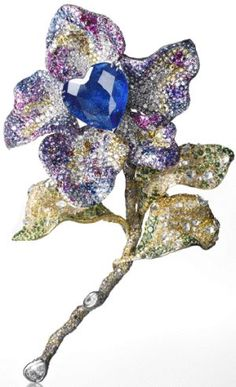 cindy chao jewellery | CINDY CHAO, The Art Jewel, Black Label Masterpiece Tipsy Brooch with ...