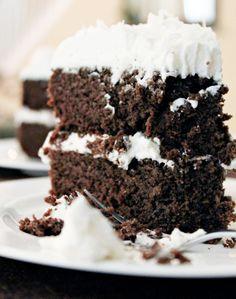 Coconut Flour Chocolate Cake #glutenfree #grainfree #paleo