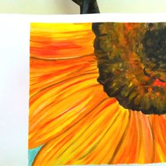Sunflower painting watercolor