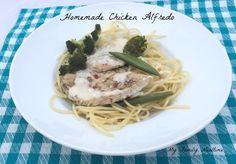 Homemade Chicken Alfredo with Broccoli - My Family Mealtime #Alfredo #Chickenalfredo #pasta #homemade
