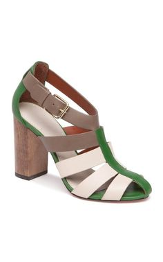 Love these colors  / color block heels