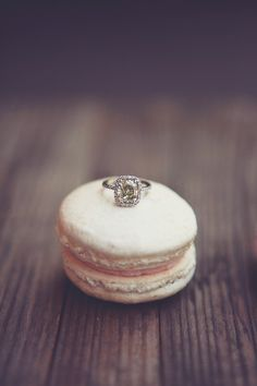 something about rings on top of desserts.....