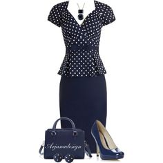 Blue Monday - Literally & Fashionably, created by arjanadesign on Polyvore
