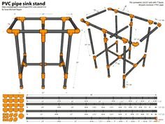 PVC Pipe Sink Stand