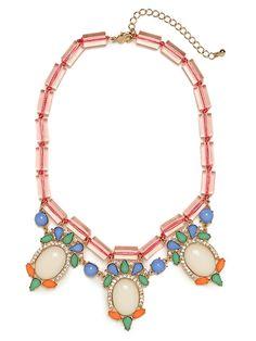 Pink Ursula collar necklace -- baublebar