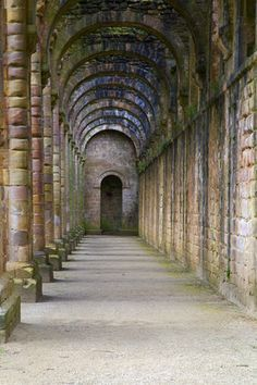 Details from the twelfth century Fountains Abbey, Yorkshire, UK Cisterician monks founded the abbey which was the largest in England until it's dissolution in 1539 by King Henry VIII
