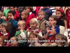 """Adorable video! """"Santa is his name-o..."""" in sign language at kindergarten holiday concert"""