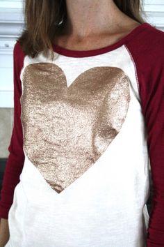 DIY glittered shirt