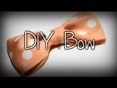 DIY : How to Make a Bow out of Ribbon - YouTube