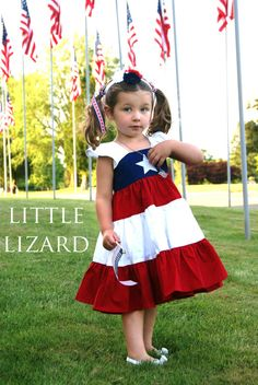 Sewing Pattern by Little Lizard King - perfect for July 4th