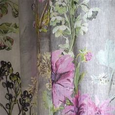 Designers Guild madhuri - camellia 100% Linen Voile