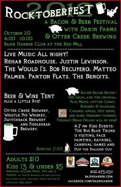 a great new event. live music, great food, lots of bacon and beer, come share the fun at Basin Harbor Club, a great Vermont resort for everyone.
