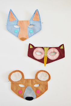 DIY: woodland creatures felt masks