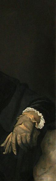 Titian, young man with a glove, c. 1520-23, louvre (detail)