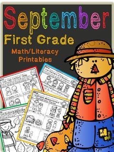 September First Grade Math and Literacy Packet NO PREP Common Core Aligned from Tristen Dixon on TeachersNotebook.com -  (40 pages)  - 40 great Common Core aligned math and literacy printable activities for your first grade students!  NO PREP so you just print and GO!! I Can statements for each printable listed at the top and each page has common core standard listed at the bottom!