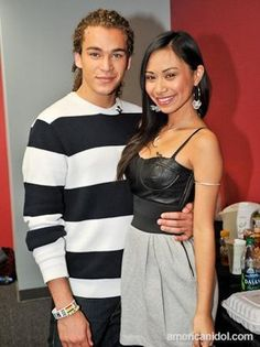 DeAndre Brackensick  Jessica Sanchez ~ Idol couple
