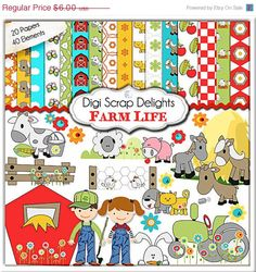 Digital Scrapbooking: Farm Scrapbook Kit