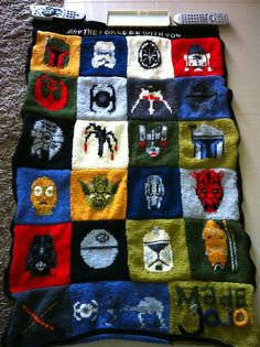 Star Wars blanket pattern. Omigosh! I don't know that I'll ever find the time, but this is amazing!