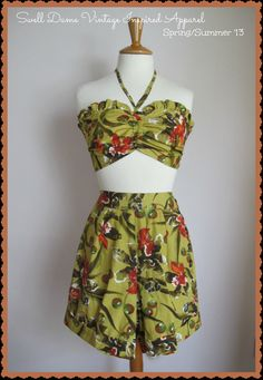 Swell Dame 1950s reproduction playsuit by SwellDameAccessories, €70.00