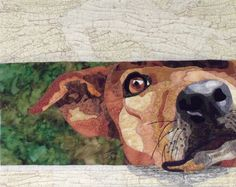 """""""Waiting For My Master's Return"""" by Cindy Garcia   dog portrait quilt"""