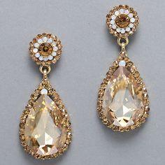 Champagne drop earrings