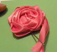 Tabbetha's Scraps: Bloom! with ribbon rose tutorial