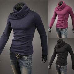 Turtle Neck Trendy Men Slim Fit Sweater | Sneak Outfitters