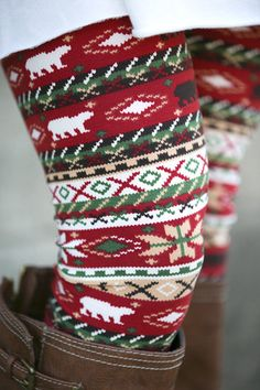 Log Cabin Print Leggings. So cute with boots & under a big comfy sweater in the winter!