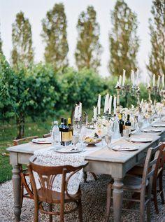 rustic reception in Italy, photo by Cinzia Bruschini http://ruffledblog.com/intimate-italian-wedding-with-rustic-details #weddingideas #receptions